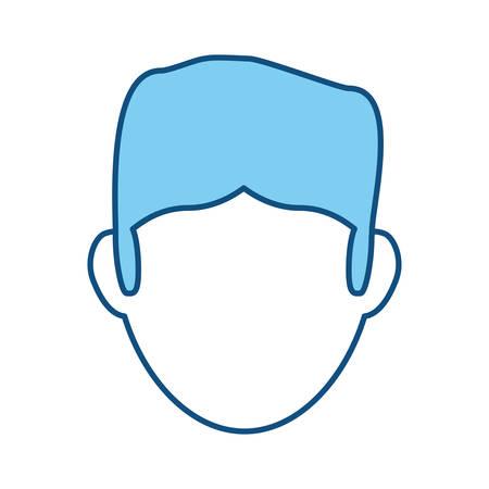 漫画蓝色头像高加索漫画摄影图片__123RF图发的概念红头男