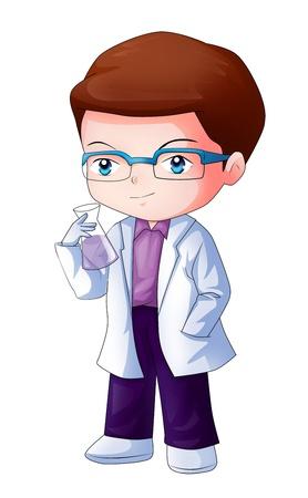 做化学实验的男生 图片素材-儿童幼儿-人物图